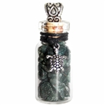 Witch Bottle Pendant with Moss Agate