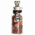 Witch Bottle Pendant with Carnelian