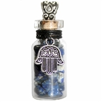 Witch Bottle Pendant with Lapis