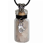 Witch Bottle Pendant with Rose Quartz