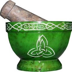 Triquetra Pestle and Mortar
