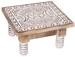 Triple Moon white altar table - large