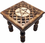 Pentagram Cut Out Altar Table