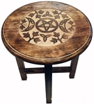 Tall Witchy Moon Altar Table