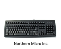 <!140>USB Microsoft CF Keyboard layout with English and French control keys, Solidus, KBS225FE-USB-BL