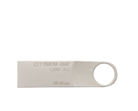 <!280>64GB DataTraveler 100 G3 USB Flash Drive, Black, Kingston, DT100G3/64GB