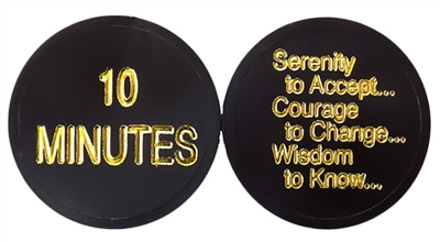 AA Plastic Chip featuring the Serenity Prayer - The 10 Minute Chip | $ .30 ea