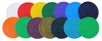 RE Style B - Plastic AA Anniversary Chips - Assorted Colors | $ .20 each