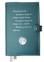 Vinyl - AA Double Book Cover - Options include: Brown, Navy, Red, Green, Purple, Pink, Black, Burgundy