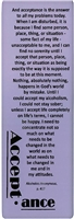 AA Acceptance Purple Bookmark