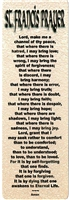 Prayer of St Francis Bookmark