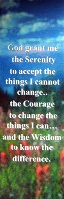 Serenity Prayer Laminated Bookmark