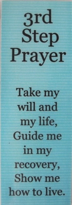 NA 3rd Step Prayer Laminated Bookmark