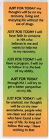 Just For Today Laminated Bookmark