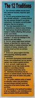 AA 12 Steps and 12 Traditions Laminated Bookmark