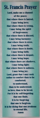 ​Double-Sided Laminated Bookmark with the St. Francis Prayer on one side and the Serenity Prayer on the other
