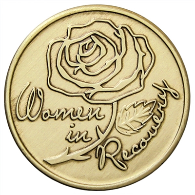 Women In Recovery Rose Bronze inspiration Medallion