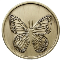 Butterfly Recovery Medallion with the serenity prayer on the back