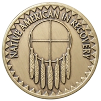 Native American In Recovery Medallion