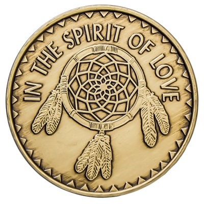 The Spirit of Love Dream Catcher Bronze Inspiration Medallion