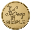 Recovery Slogan Bronze Medallion featuring Keep it Simple and the serenity prayer