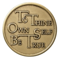 To Thine Own Self Be True Bronze Inspiration Medallion