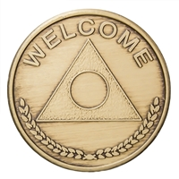 Al-Anon 'Welcome' - One Day at A Time Bronze Medallion