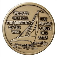 Adjust Our Sails Bronze Inspiration Medallion