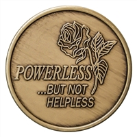 Powerless but not Helpless Bronze Recovery Medallion