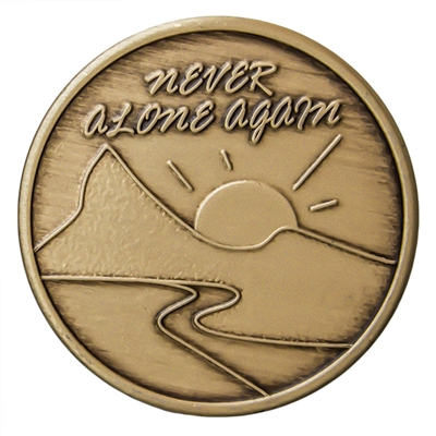 Never Alone Again Bronze Inspiration Medallion