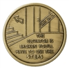 The Elevator is Broken Use the Steps Bronze Medallion