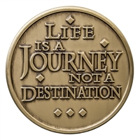 Life Is A Journey Bronze Inspiration Medallion