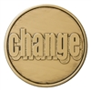 Change your Attitude-Change the world Bronze Inspirational Medallion