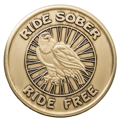 Ride Sober Ride Free Bronze Medallion