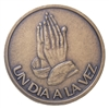 Praying Hands ODAT - Spanish Bronze Medallion
