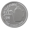WELCOME Coffee Pot Aluminum AA Coin