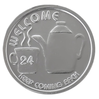 WELCOME Coffee Pot AA Coin