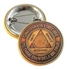 AA Anniversary Medallion BUTTON