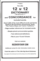AA 12 and 12 Dictionary and Concordance