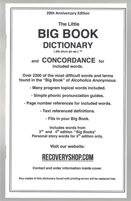 AA Big Book Dictionary and Concordance