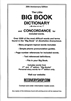 Large Print AA Big Book DICTIONARY and Concordance