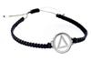Stainless Steel AA Logo and Braided Rope Bracelet  | RecoveryShop