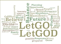 Let Go Let God - word mix - Recovery Greeting Card