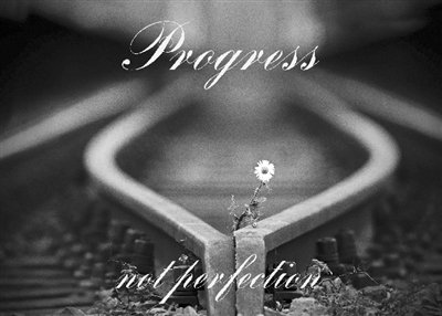 Progress Not Perfection - Recovery Greeting Card - Get Well Soon