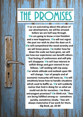The Promises AA Greeting Card