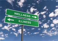 Road Signs - Wellness vs. Illness - Recovery Greeting Card