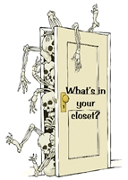 What's in Your Closet? Greeting Card featuring an except from page 65 of the AA Big Book