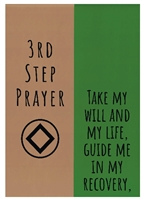 NA 3rd Step Prayer - Recovery Greeting Card