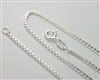 Medium Box Chain Necklace with Spring Ring Clasp