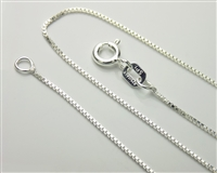Sterling Silver Light Box Chain Necklace